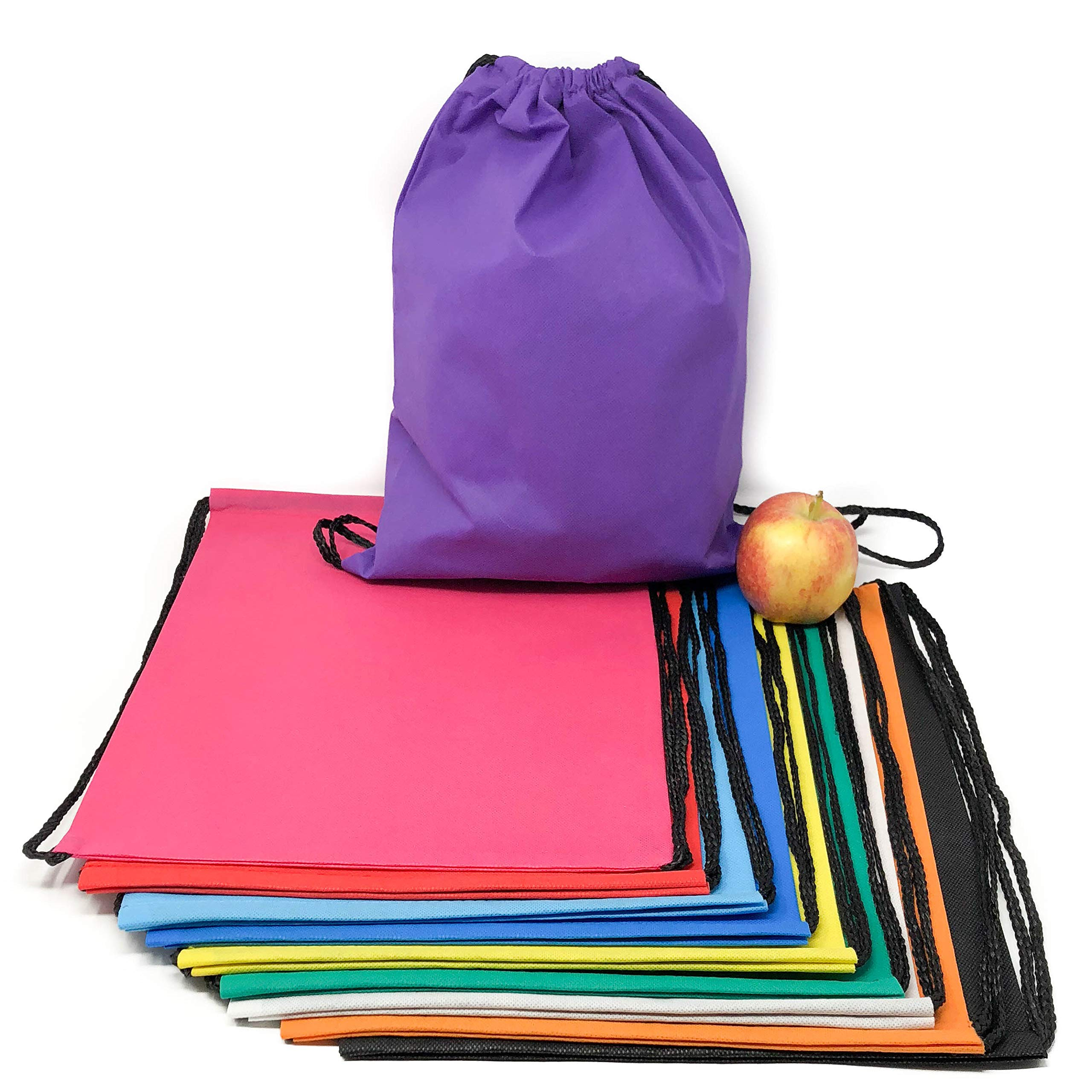 50 Pack Bulk Drawstring Bags - Polyester Backpacks