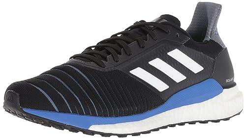 big sale 9b678 5e958 adidas Mens Solar Glide Running Shoes, BlackWhiteHi-res Blue,