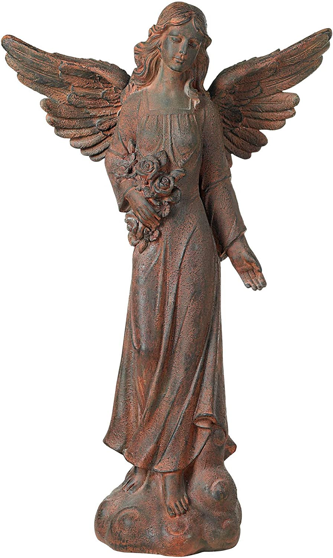 "English Tudor Angel Outdoor Statue 41 1/2"" High Sculpture for Yard Garden Patio Deck Home Entryway Hallway - Kensington Hill: Home Improvement"