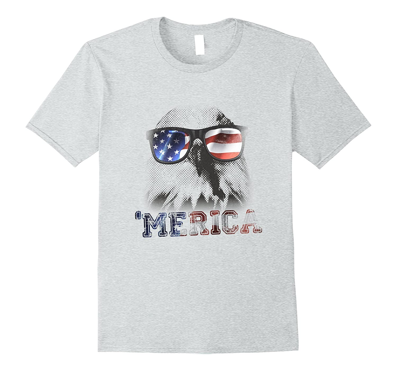 4th of July Eagle Merica T-Shirt - Independence Day-PL