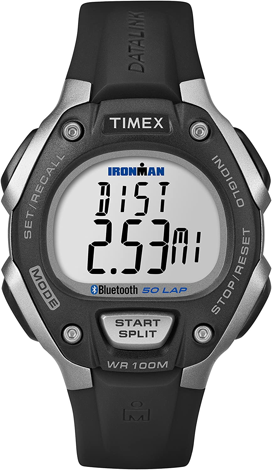 d8220a1e9b1 Amazon.com  Timex Ironman Classic 50 Move + Watch with Black Resin Band   Timex  Watches