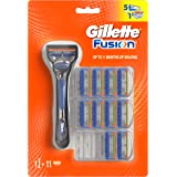 Gillette Fusion5 Manual Razor Handle And Razor Blade Refills, 10 Cartridges