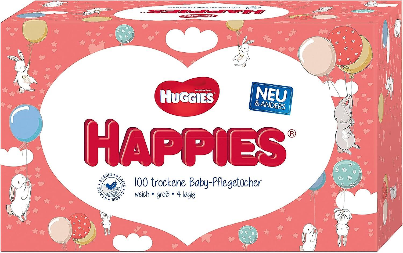 10 x 100 T/ücher Huggies Happies Baby-Pfleget/ücher