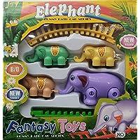 Techgifti™Elephant Train with Tracks