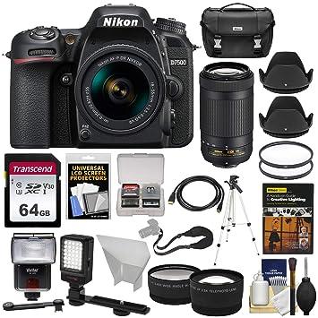 Amazon.com: Nikon D7500 - Cámara réflex digital con lentes y ...
