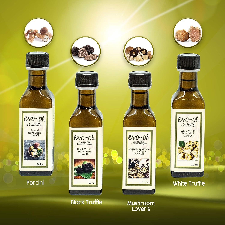 Amazon.com : Gourmet Olive Oil Gift Set | Certified Extra Virgin Olive Oil | Mushroom Flavor 4-Pack 100ml Each Bottle | 100% Natural Flavors | Porcini, ...