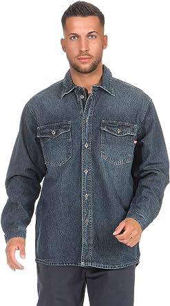 Stanley 30052 - Camisa vaquera para hombre azul oscuro M ...