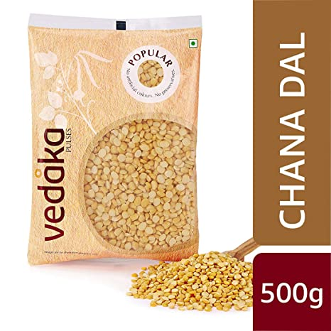 Amazon Brand - Vedaka Popular Chana Dal, 500g