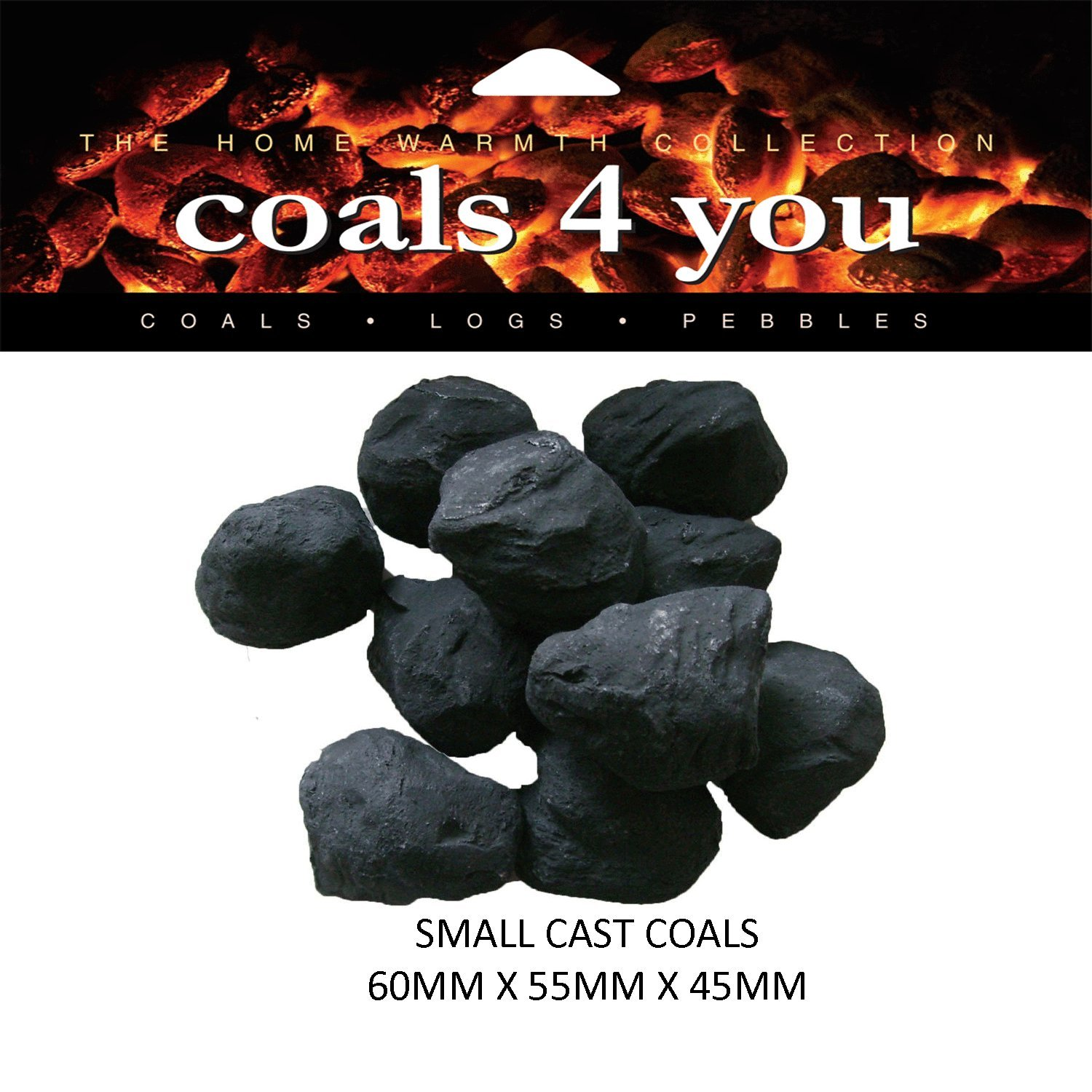20 Gas Fire Ceramic Small Cast Coals Replacement Replacements/Bio Fuels/Ceramic/Boxed In branded Coals 4 You Packing