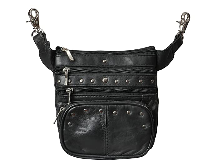 Leather Clip Pouch, Motorcycle Bag & Leather Fanny Pack for Women Men by Bayfield Bags, Leather Hip Bag, Steampunk Waist Bag