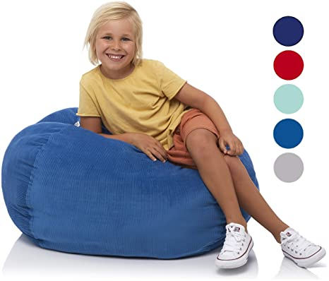 Terrific Delmach Stuffed Animal Storage Bean Bag Chair 33 Width Large Double Stitched Bean Bag Cover Durable Zipper Fill With Anything Soft Beans Camellatalisay Diy Chair Ideas Camellatalisaycom