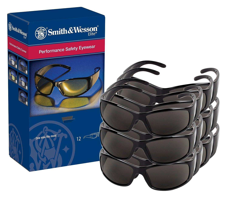 be7a2c35cf Smith y Wesson Gafas de seguridad (21303), Elite Gafas de sol, lentes  antiniebla humo de seguridad con marco negro, 12 pares/Case: Amazon.es:  Amazon.es