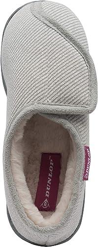 Dunlop Ladies Womens Slippers Memory Foam Diabetic Comfy Rip Tape Fastening Sizes 3-8