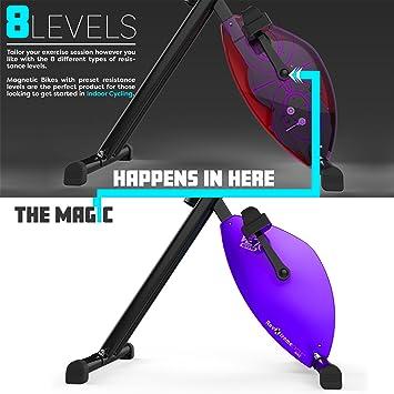We R Sports X-Bike Purple - Elíptica de fitness (plegable, magnético), color morado: Amazon.es: Deportes y aire libre