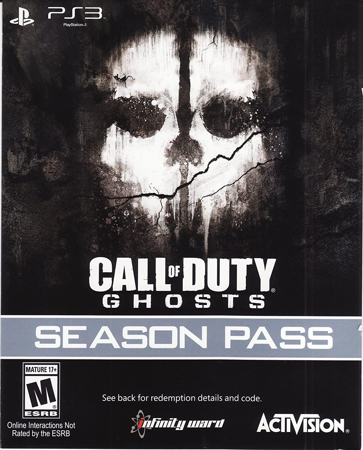 Call of Duty Ghosts Season Pass DLC Code Card - Playstation 3 Activision