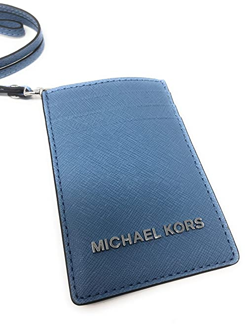 41f384b180bf Amazon.com  Michael Kors Jet Set Travel Lanyard ID Card Case in Sky   AAfashiondistrict