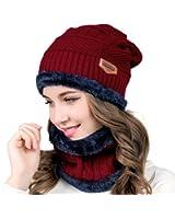 Cappello spesso per esterno da donna/uomo con sciarpa per inverno/autunno(r)