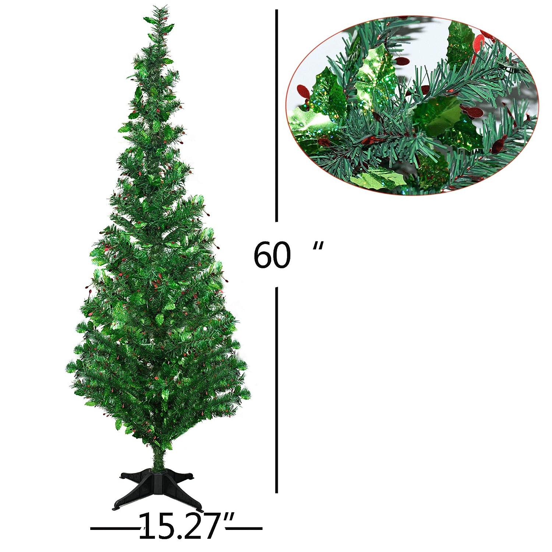 966443addc05 Amazon.com  YuQi 5 Foot Green Tinsel Christmas Tree