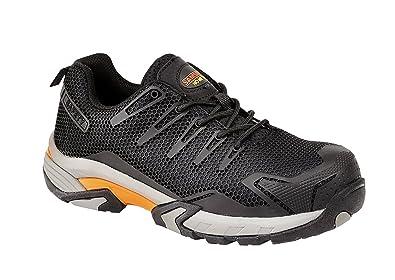 Samson XL 7765 S1P schwarz Composite Zehenschutzkappe Metall Frei Arbeiten Sicherheit Trainer Schuhe