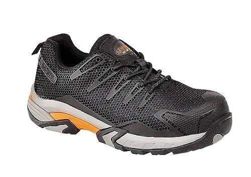 Samson XL 7765 S1P Zapatillas de Seguridad Negro Puntera de Composite Metal Libre Calzado de Trabajo: Amazon.es: Zapatos y complementos
