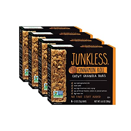 Junkless Chewy Granola Bars, Cinnamon Roll, 1.1 oz, 6 Bars (4 Count on nature valley peanut, planters dry roasted peanuts, planters peanut bar, planters peanut man funny, planters honey peanut, m&m's peanut, planters peanut logo, planters peanut butter peanut,