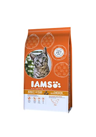 Iams Croquette au Poulet pour Chat Adulte 0,3 kg - Pack de 8  Amazon ... 5de516935485