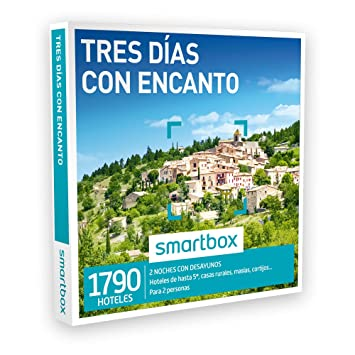 Smartbox Caja Regalo - TRES DÍAS CON ENCANTO - 1790 hoteles 5* y casas rurales en España, Andorra, Portugal, Italia y Francia: Amazon.es: Deportes y aire ...