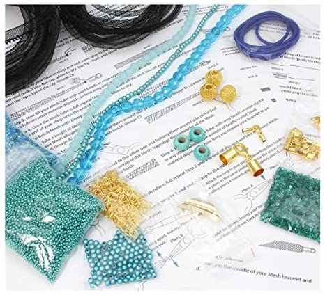 7c478b073f0c Kit para hacer joyas - Do it Yourself Kit - WonderMesh Kit de iniciación -  turquesa