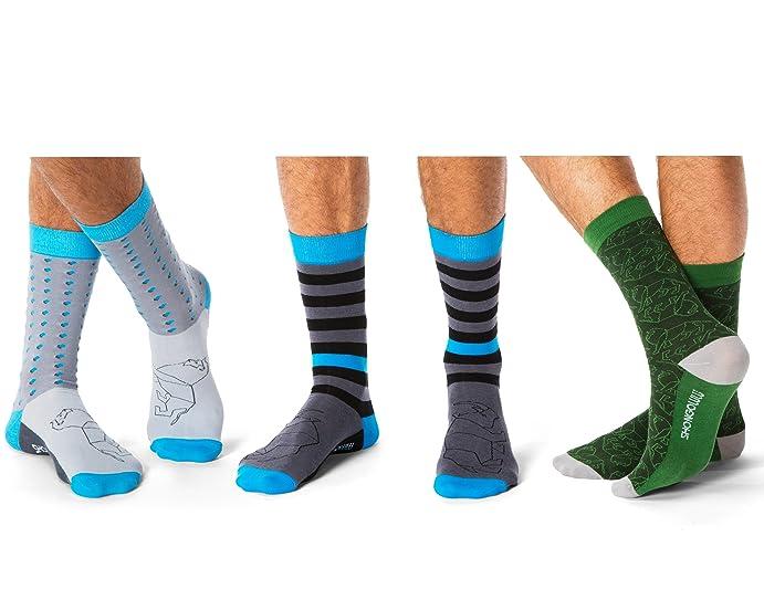 songolulu mens patterned colorful funky dress socks fashion cotton