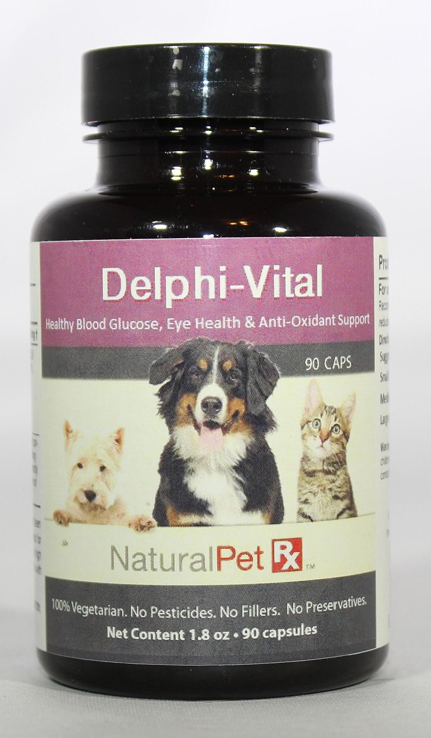 Natural Pet RX Delphi-Vital Blood Glucose, Eye & Anti-Oxidant Support (90 Capsules) by Natural Pet Rx