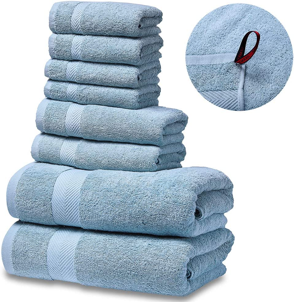 SEMAXE Luxury Bath Towel Set. Hotel & Spa Quality. 2 Large Bath Towels , 2 Hand Towels, 4 Washcloths. Premium Collection Bathroom Towels. Soft, Plush and Highly Absorbent.: Kitchen & Dining