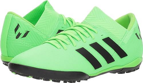 new styles fb07f f0135 adidas Unisex Nemeziz Messi Tango 18.3 TF J Soccer Shoe core BlackSolar  Green,