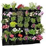 Active Gear Guy Vertical Hanging Outdoor Wall Planter with 36 Felt Pockets to Hold Living or Artificial Plants, Flowers, and