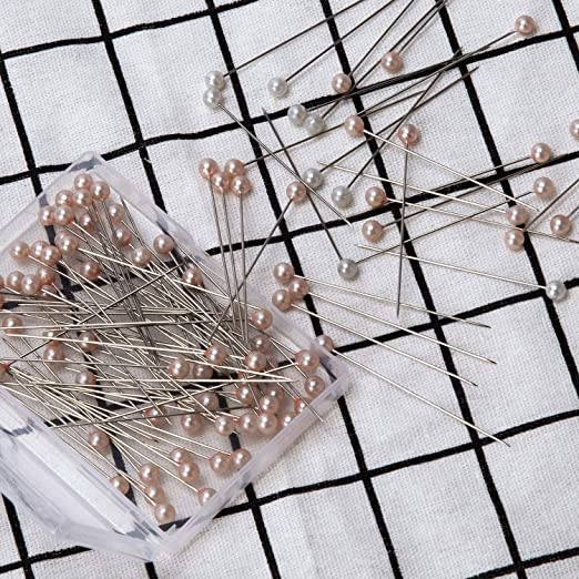 AIEX 320Pcs 4 Styles Pearl Head Pins Crystal Head Corsage Pins Straight Head Pins for Banquet Wedding Party Anniversary Decorations