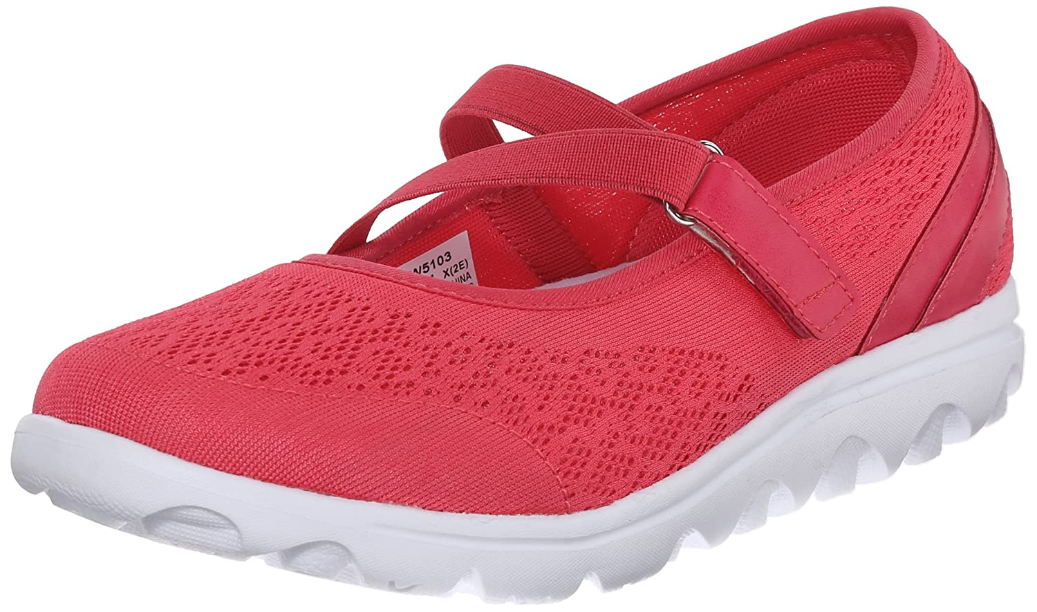 Propet Women's TravelActiv Mary Jane Fashion Sneaker B0118FHTU4 8.5 2E US|Watermelon Red