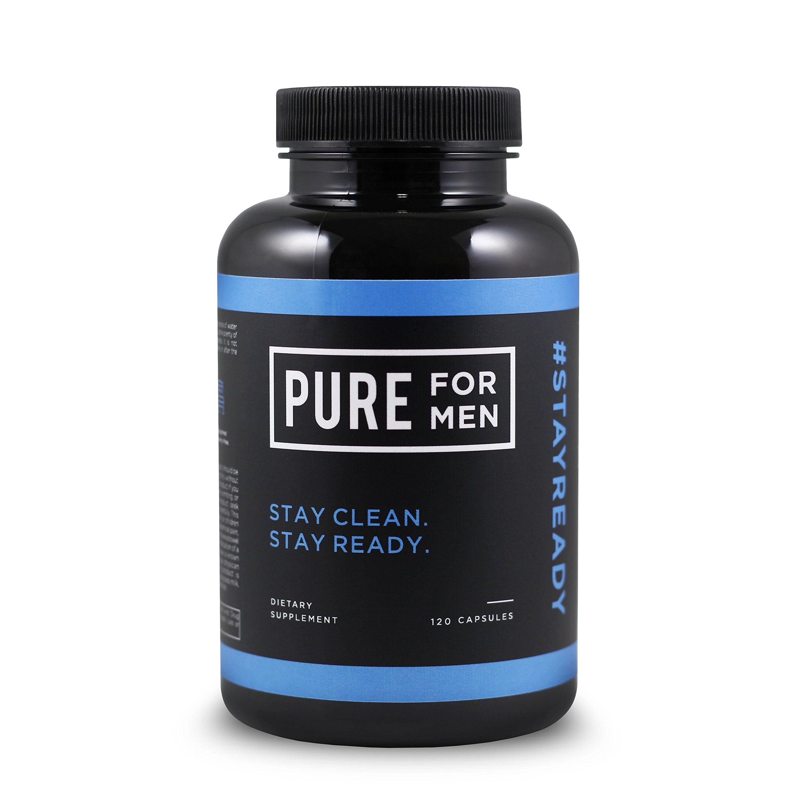 Pure for Men - The Original Vegan Cleanliness Fiber Supplement - Proven Proprietary Formula (120 Capsules with Aloe) by Pure for Men