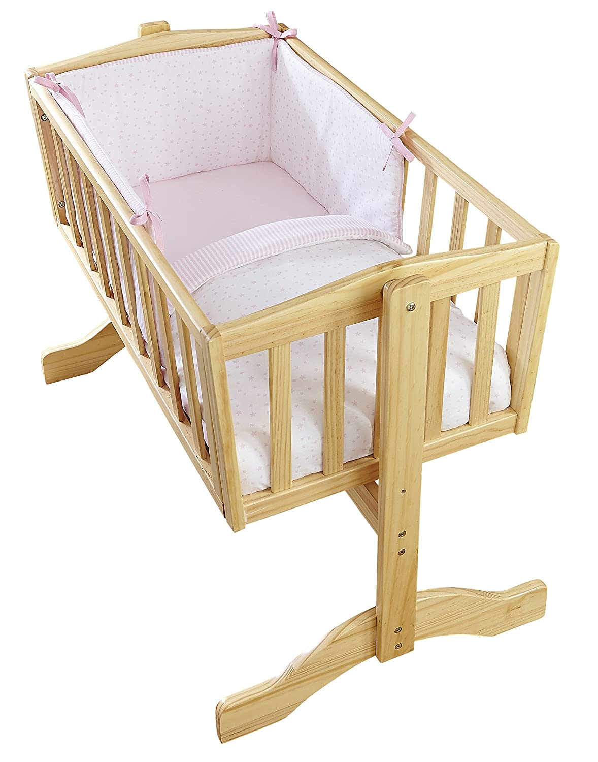 Clair de Lune Crib Set (Blue, Stars and Stripes, 2-Piece) CL5806BE
