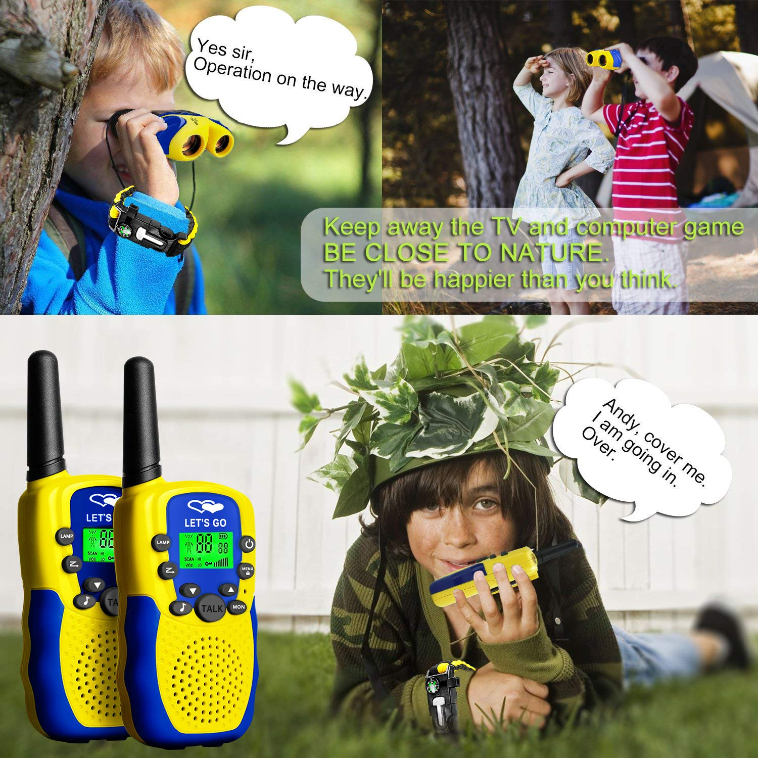HODO Popular Outdoor Toys for 3-12 Year Old Boys, Long Range Walkie Talkies for Kids Toys for 3-12 Year Old Girls Gifts for 3-12 Year Old Boy Boy Toys Age 3-12 Girl Toys Gifts Age 3-12 HDHTS13 by HOdo (Image #2)