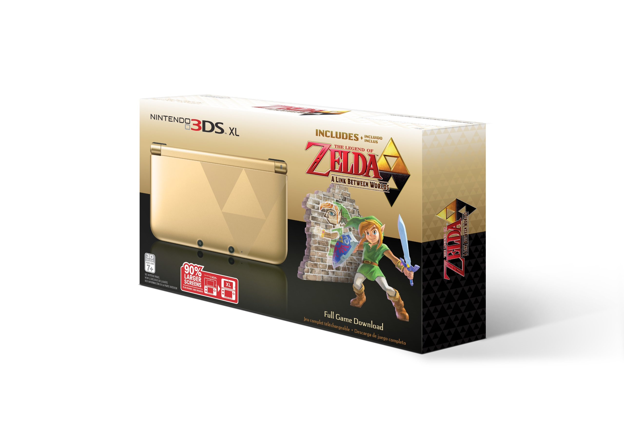 Nintendo 3DS XL Gold/Black - Limited Edition Bundle with The Legend of Zelda: A Link Between Worlds by Nintendo