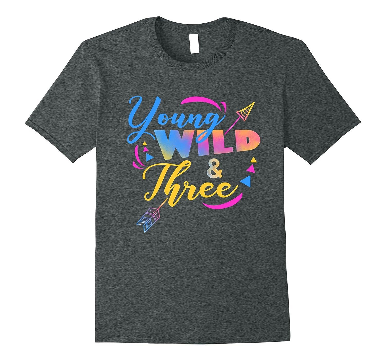 Young Three 3th birthday T shirt-Teesml