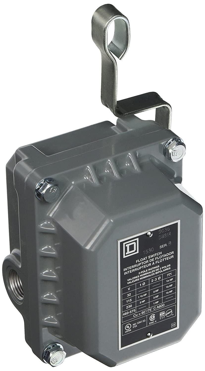 Square D 9036DW31R Commercial Open Tank Float Switch, NEMA 4/7/9, Contacts Open on Rise: Electronic Component Limit Switches: Amazon.com: Industrial & ...
