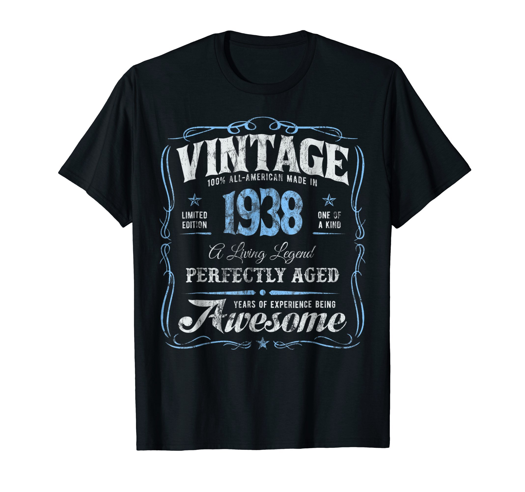 80th Birthday T-Shirt Made In 1938 Vintage 80 Years Old Gift