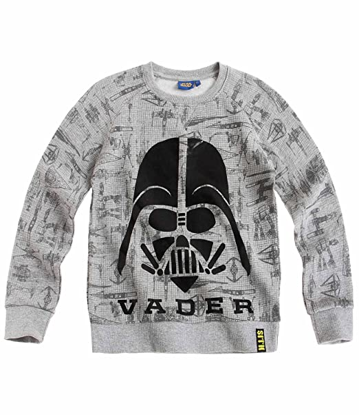Star Wars-The Clone Wars Darth Vader Jedi Yoda Chicos Sudadera - Gris - 140: Amazon.es: Ropa y accesorios