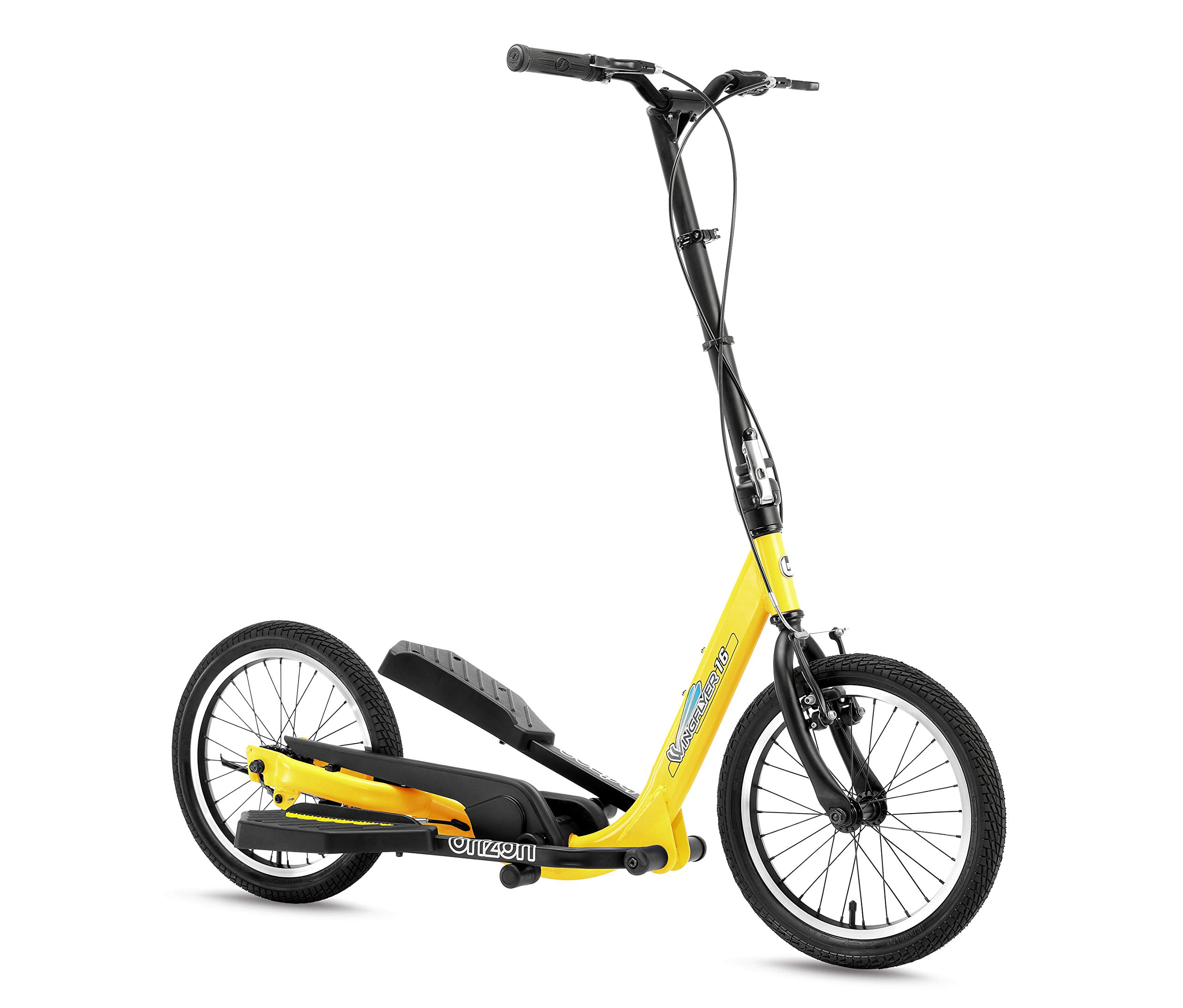 BRIZON New Model - Wingflyer16- Excercise Stepper Scooter (16inch Air Tire) (Yellow)