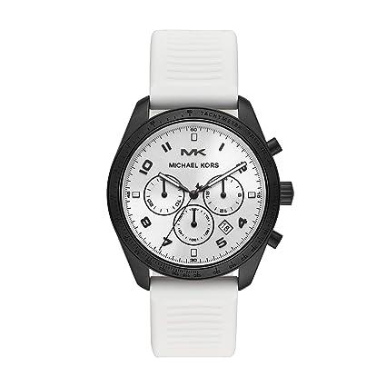 bf762386db76 Michael Kors Mens Chronograph Quartz Watch with Silicone Strap MK8685   Amazon.co.uk  Watches