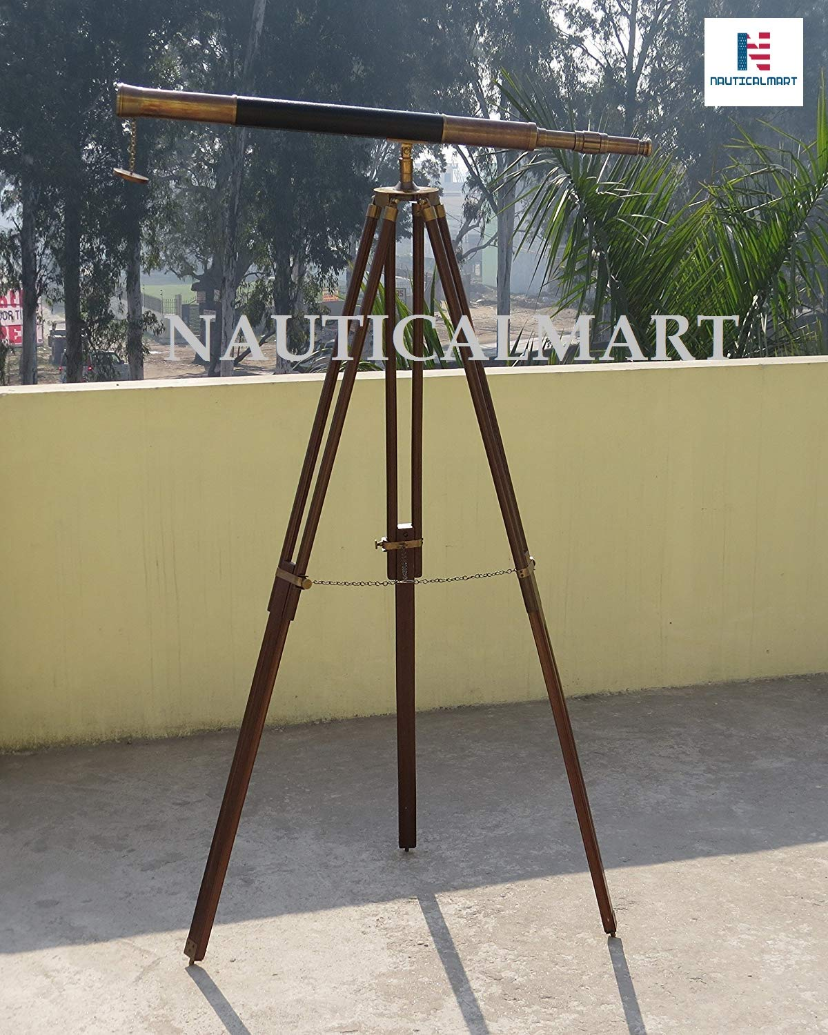 NauticalMart Vintage Marine Single Barrel Telescope & Tripod Maritime Collectible Gift by NauticalMart