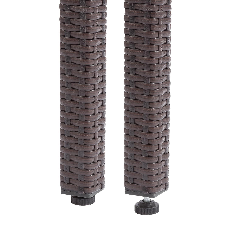 90 x 90 x 73 cm Ultranatura Palma Mesa de Vidrio de polirat/án