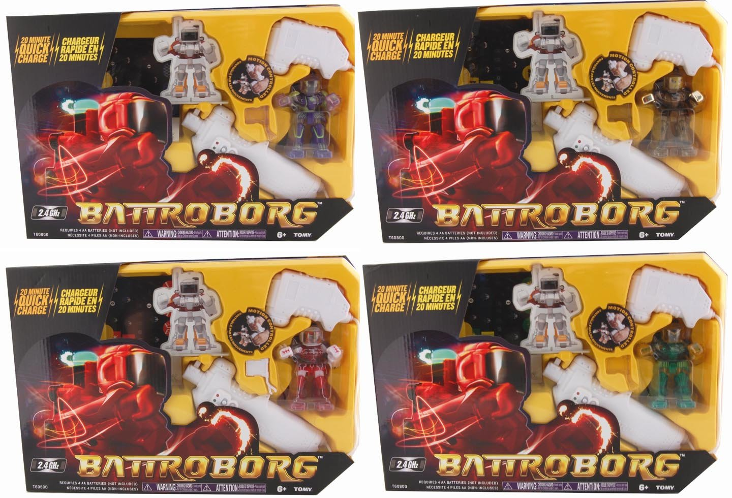 Battroborg Single Pack Case Of 4 Assorted