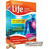Heart Health Dietary Supplement - Berkeley Life, 100% Drug Free; Helps Support Nitric Oxide & Normal Healthy Blood Pressure Levels for Cardiovascular Health, Beet Root, Pomegranate, Essential Vitamins