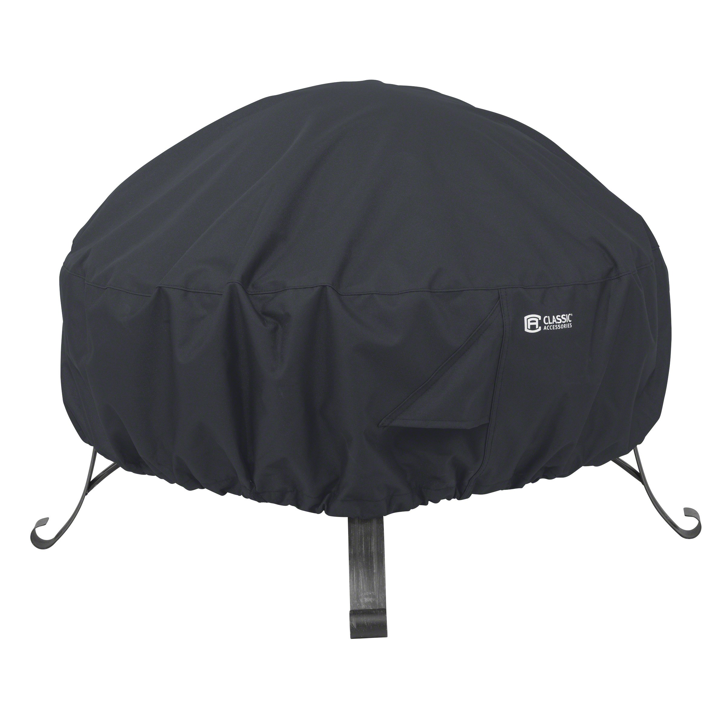 Classic Accessories 55-552-010401-00 Round Fire Pit Cover, 30'', Black